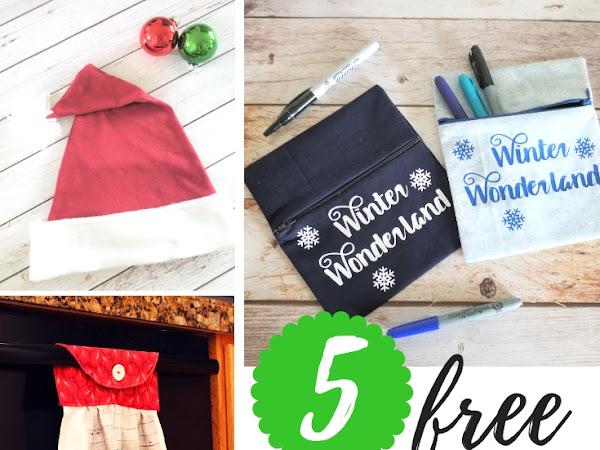 5 Free Printable Christmas Sewing Patterns