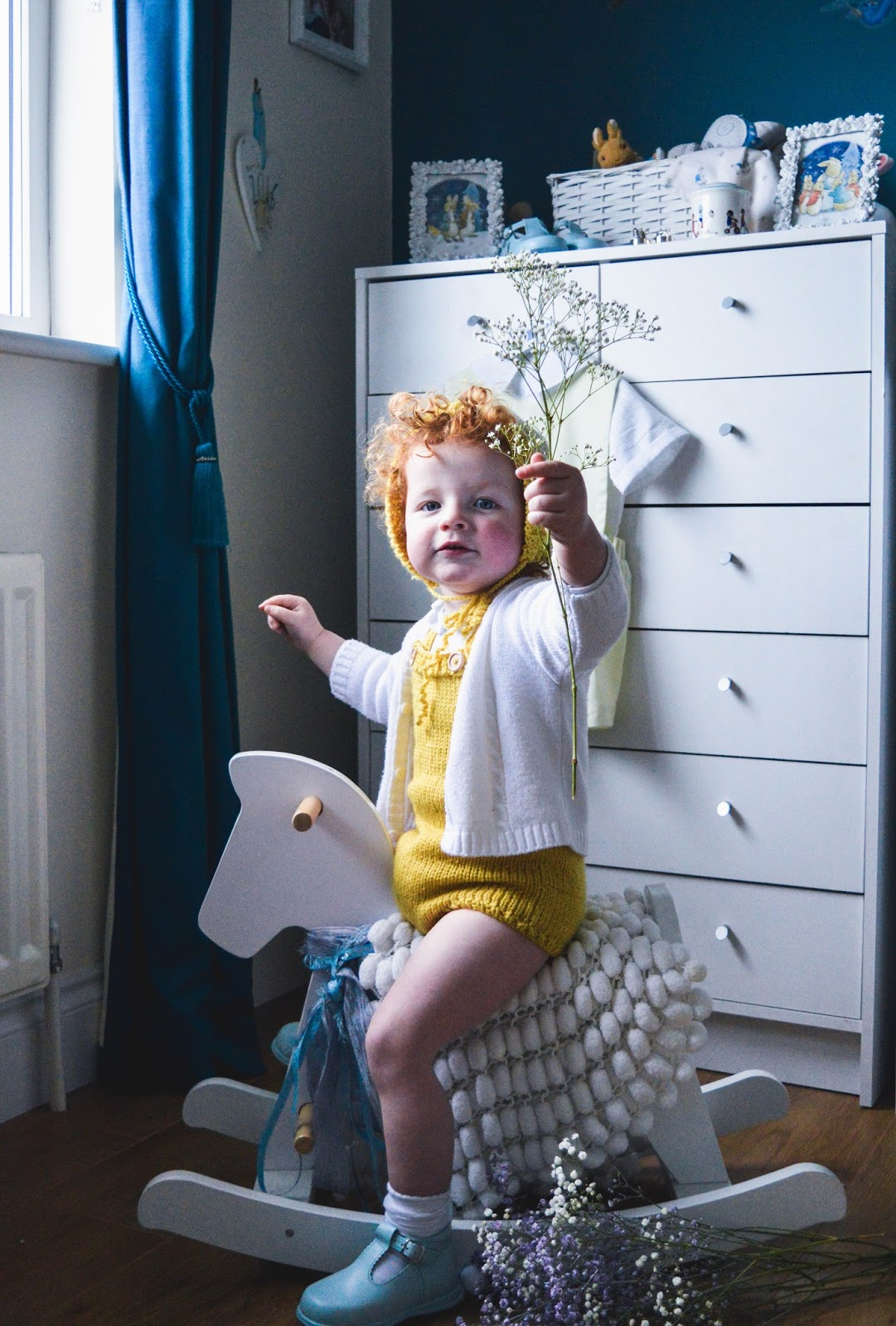What the Boys Wore | TwoGreyRabbits Knitted Romper & Bonnet ♥