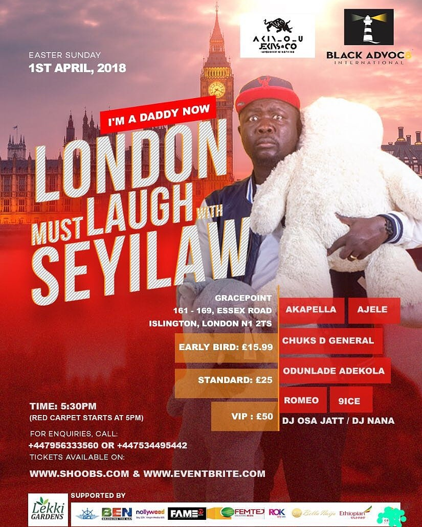 Sun/1/Apr: London Must Laugh With Seyi Law