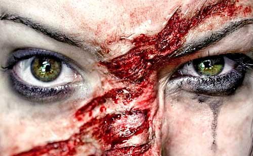 Los trucos de maquillaje mas exagerados para Halloween