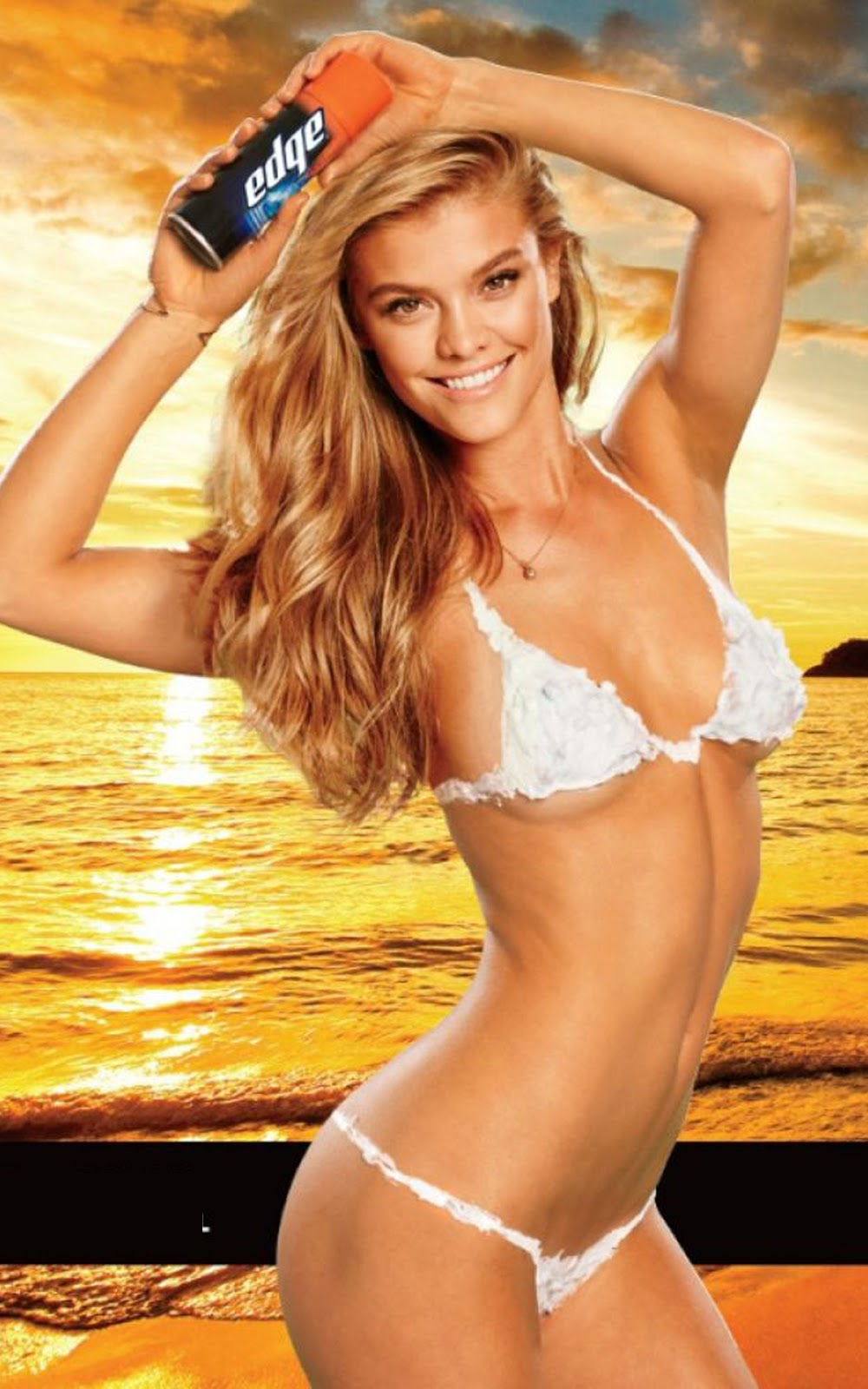 "Nina Agdal  Nina Agdal Born  26 March 1992 (age 21) Denmark Modeling information Height 1.76 m (5 ft 9 in) Weight 55 kg Hair color Light Brown Eye color Green / Grey Measurements (US) 34-23.5-34.5 ; (EU) 82-60-90 Dress size (US) 6 ; (EU) 36 Nina Agdal (born 26 March 1992) is a Danish fashion model. She is best known for being a Sports Illustrated Model.  Career in Fashion and Modeling  Agdal, who grew up in Hillerod, Denmark, has modeled for Billabong, Macy's, Frederick's of Hollywood, and Victoria's Secret. In 2012, she made her first appearance in the Sports Illustrated Swimsuit Issue and was subsequently named the issue's ""Rookie of the Year."" Agdal appeared in a 2013 Super Bowl television commercial for Carl's Jr./Hardee's, following in the footsteps of Kim Kardashian, Padma Lakshmi, Paris Hilton and fellow Sports Illustrated Swimsuit Issue model Kate Upton. The Super Bowl ad was featured in the 2013 film Don Jon.  Personal Life  She is dating Max George of The Wanted since October 2013.   References  a b c d e ""Nina Agdal profile"". Fashion Model Directory. Retrieved 1 February 2013. ""The Rookies Class Of 2012"". Sports Illustrated. Retrieved 1 February 2013. Luciani, Jene. ""Bikini Body Secrets from Sport's Illustrated Model Nina Agdal"". Shape Magazine. Retrieved 1 February 2013. a b Murphy, Meaghan. ""Nina Agdal follows Kate Upton as Carl's Jr., spokesmodel, lands Super Bowl commercial"". Fox News. Retrieved 1 February 2013. Carl's Jr. Releases New Charbroiled Atlantic Cod Fish Sandwich, With Swimsuit Model Nina Agdal (VIDEO)"". The Huffington Post. Retrieved 1 February 2013."