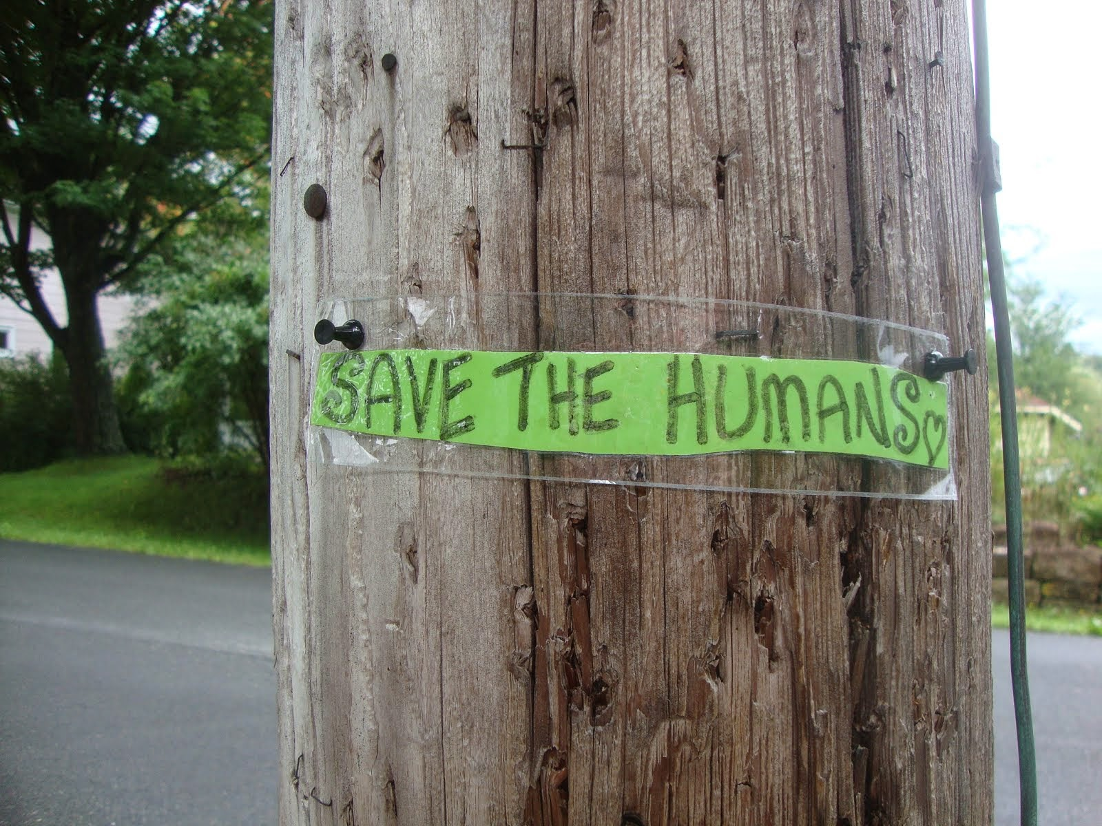 save the humans..