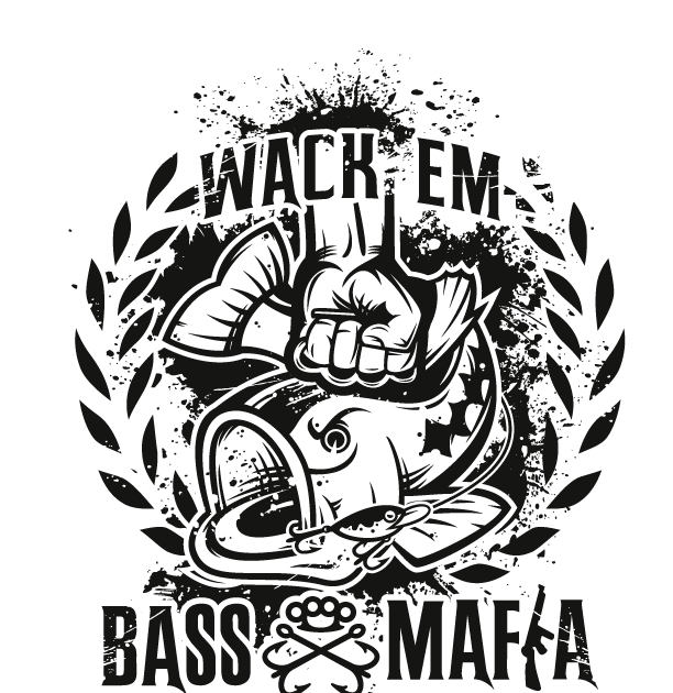 Oneoff Nation Bass Mafia Tackle Shop Logo Set