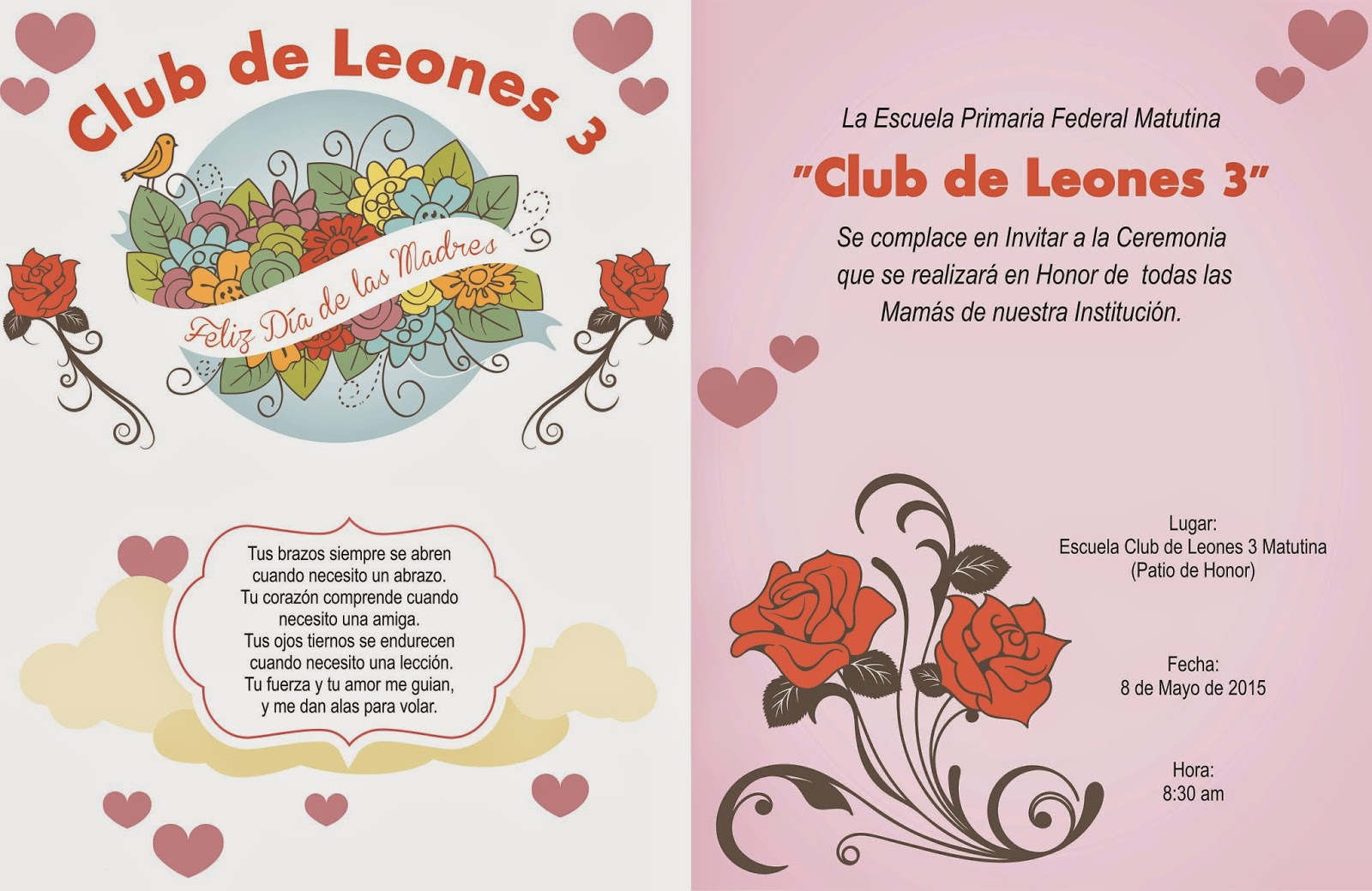 Invitacion DÍa De Las Madres RegiÓn: Invitacion Para El 10 De Mayo Dia De Las Madres