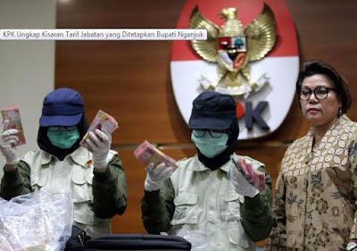 KPK Ungkap Kisaran Tarif Jabatan yang Ditetapkan Bupati Nganjuk