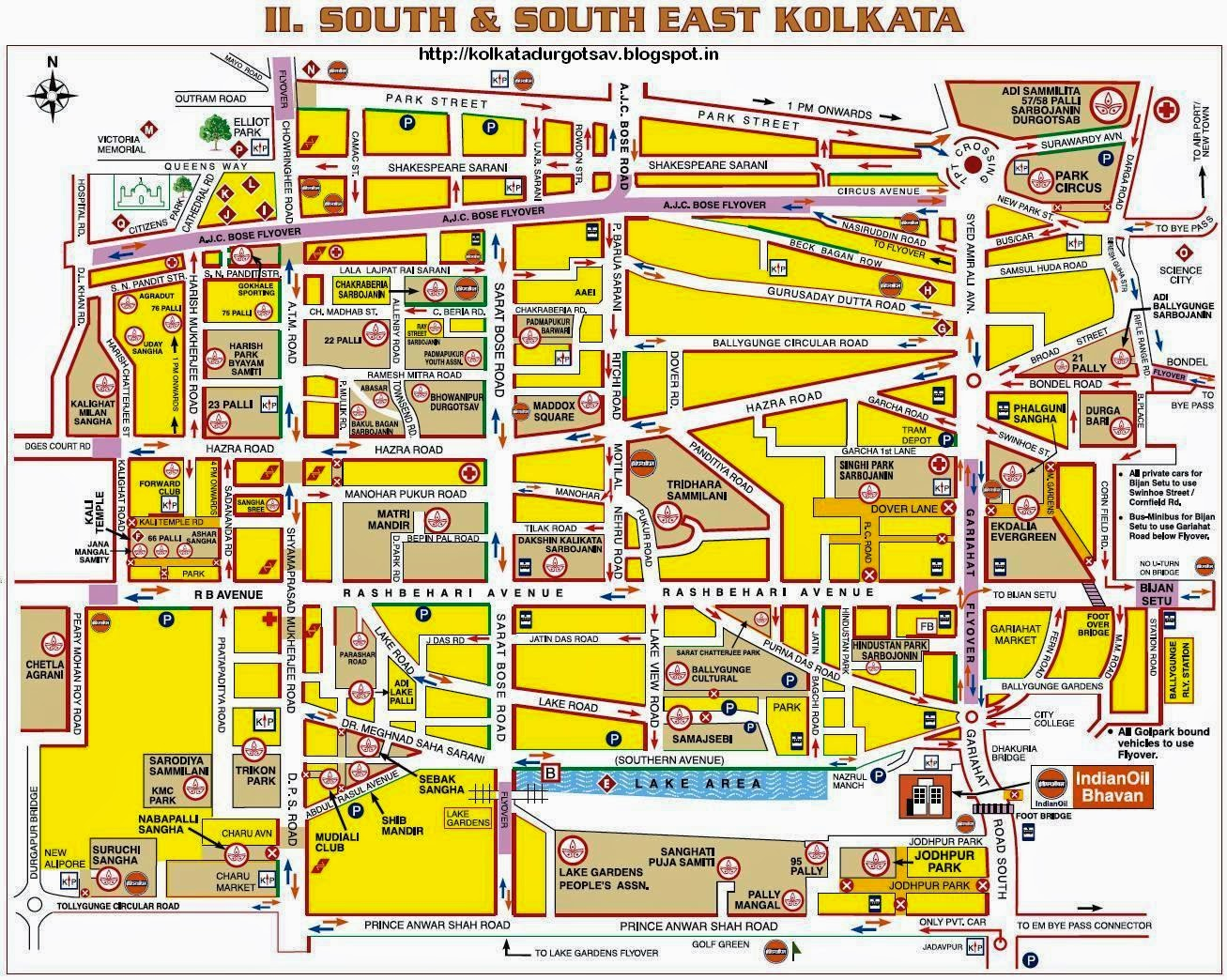 South and South East Kolkata Map