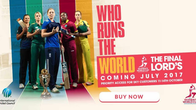 All Live Women's Cricket World Cup in England 24th June to 23rd July 2017
