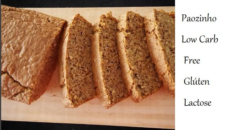 receita de pão low carb e sem lactose