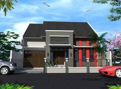 desain gambar rumah minimalis modern sederhana lantai 1