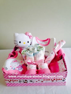 Cajita regalo baby shower Hello Kitty