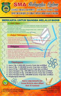 Lomba Karya Tulis Ilmiah Antar SMP Sederajat 2018 by SMA Hidayatus