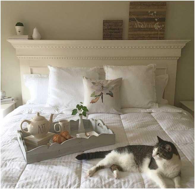 Bild Weisses Modernes Schlafzimmer Kein Rauschen Es Ist Still Eine  Friedliche Zeit Um Kaffee Und Frühstück Zu Essen Das Ist Die Ruhe Und  Stille Des Tages