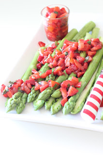 asperges vertes fraises