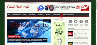 Contoh gambar iklan AdSense yang sudah berhasil muncul.