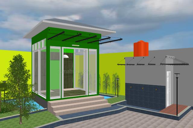 Desain Mushola Keluarga Minimalis di Luar Rumah