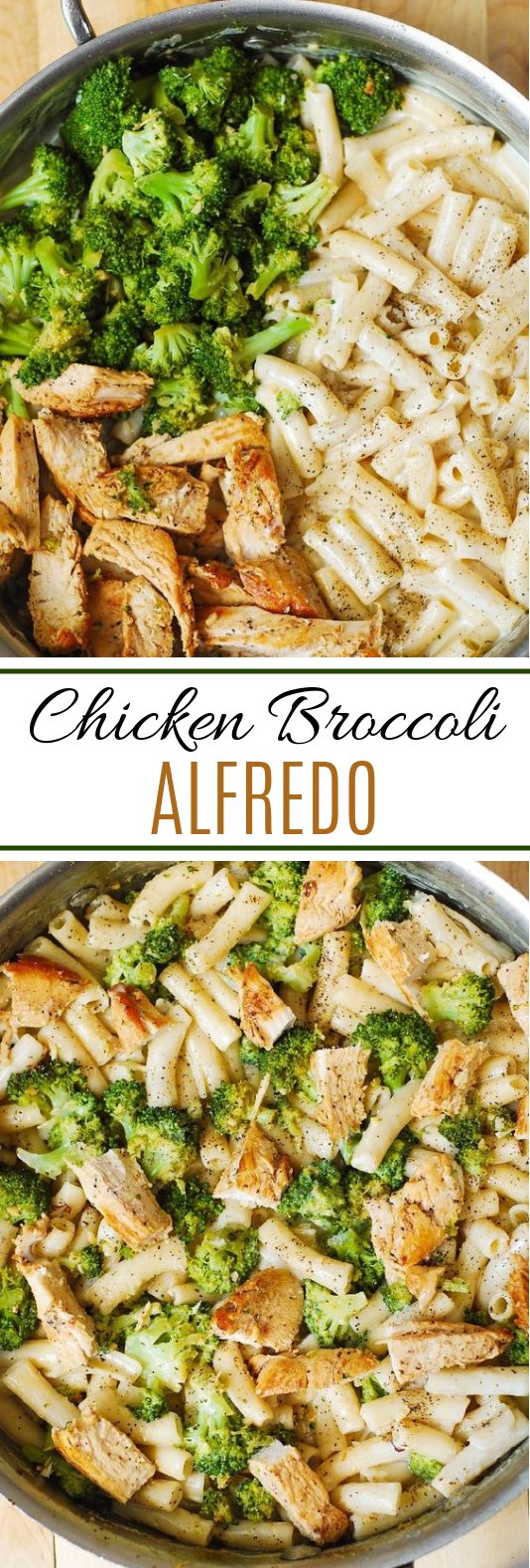 Chicken Broccoli Alfredo #dinner #quickrecipe