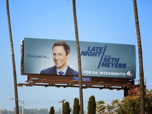 Late Night with Seth Meyers launch billboard