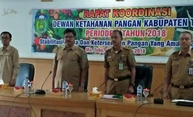 DTPHKP Gelar Rapat Koordinasi Dewan Ketahanan Pangan Periode II Tahun 2018