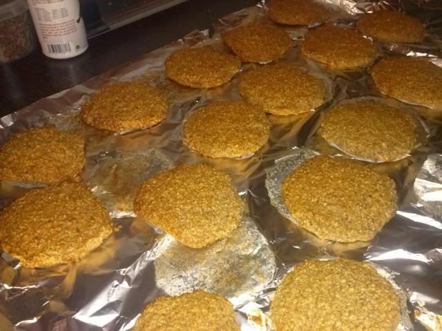 Preparación galletas integrales avena y trigo