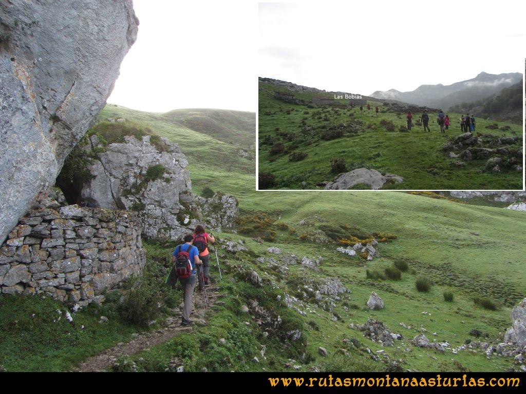 Ruta Ercina, Jultayu, Cuvicente: Camino a la majada Las Bobias