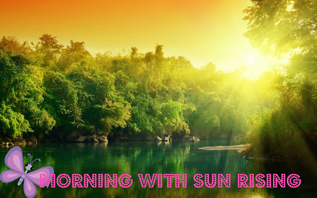 green forest river at sun rise wallpaper 2016
