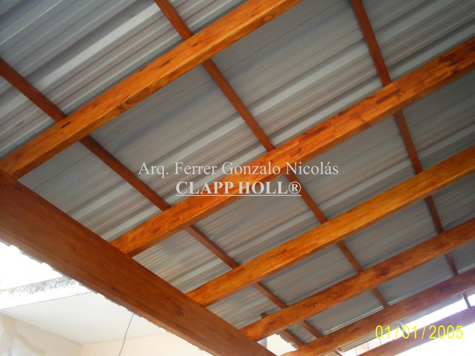 Fotos techos de chapa a la vista techos de madera clapp - Maderas y chapas ...
