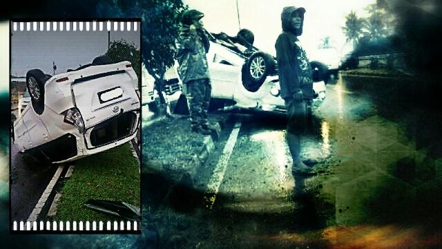 Tabrakan kecelakaan motor mobil crash lalu lintas