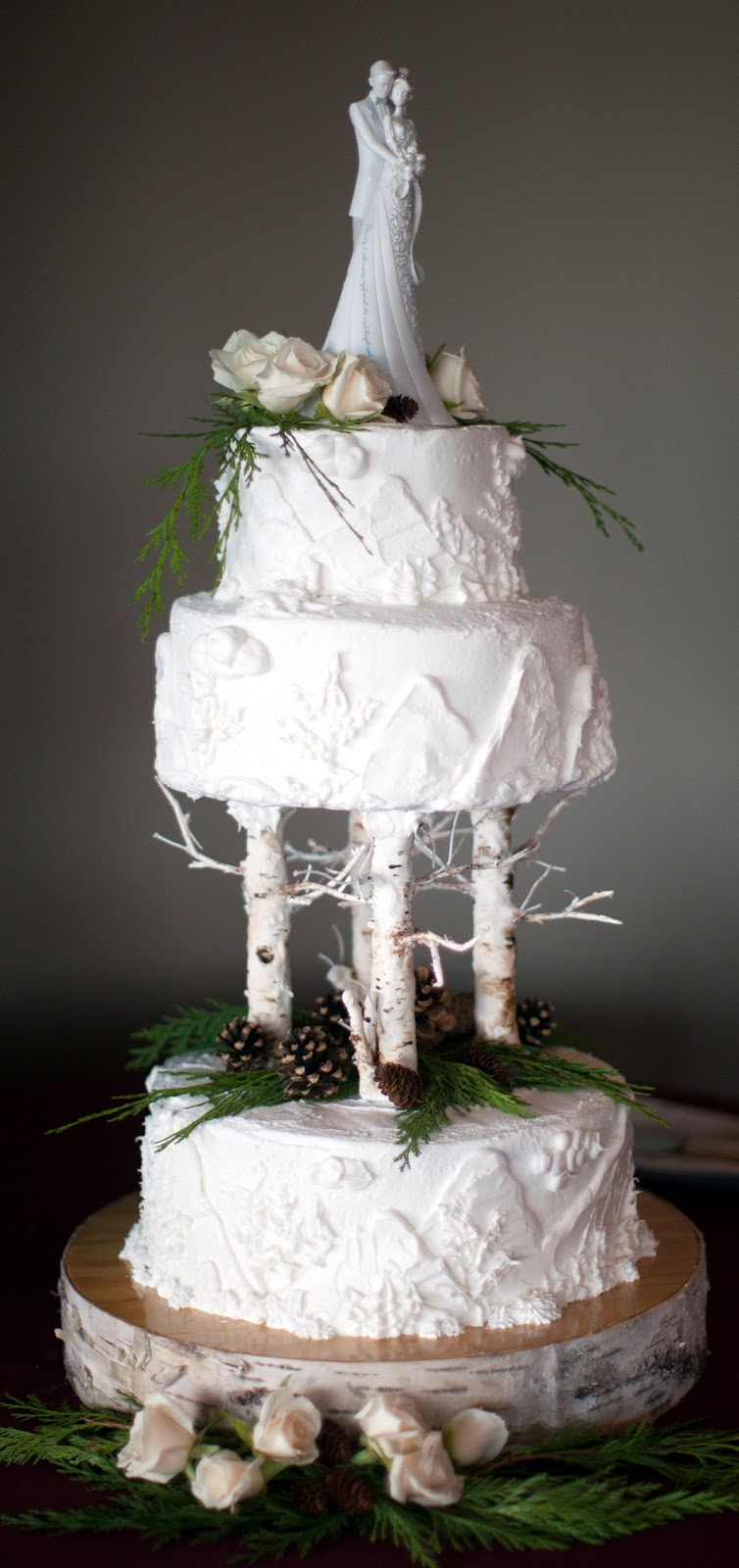 wedding cake elegant rustic his hers and ours diy rustic elegance wedding cake 22566