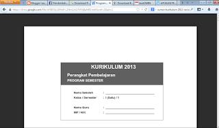 program semeseter kurikulum 2013