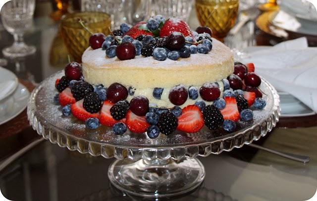Decoração Ano Novo : Jantar do Réveillon : Naked Cake
