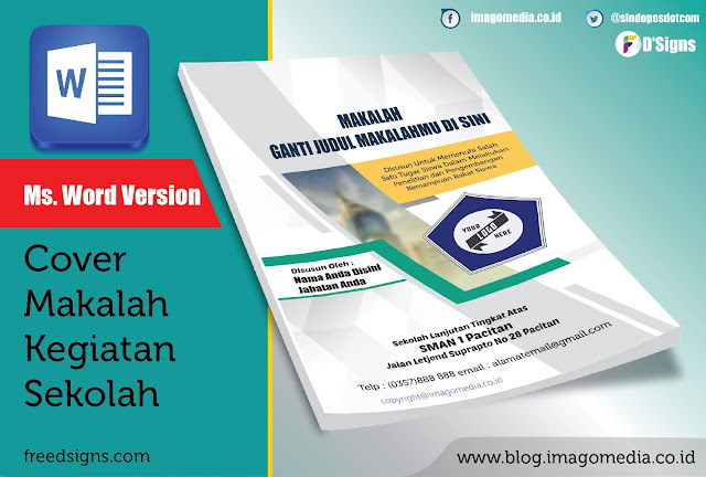 Template Cover Laporan Modern Versi Word