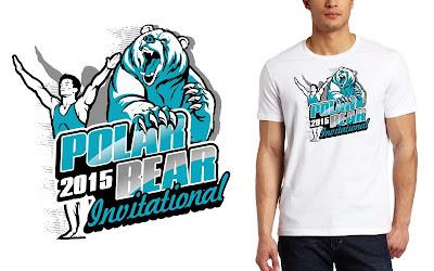 T-shirt logo design creative ideas: MEN'S GYMNASTICS TSHIRT