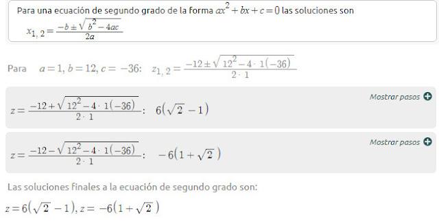 ecuacion cuadratica en un trinomio