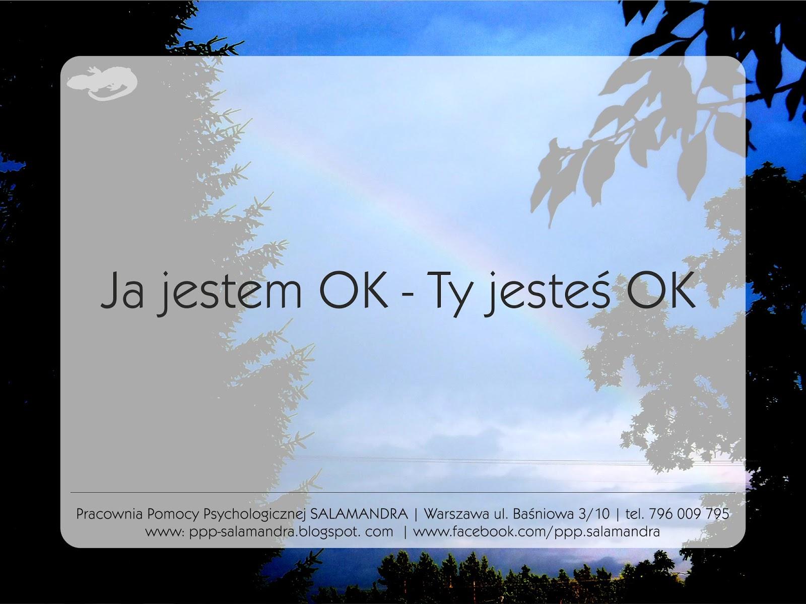 Ja jestem OK - ty jesteś OK czyli...