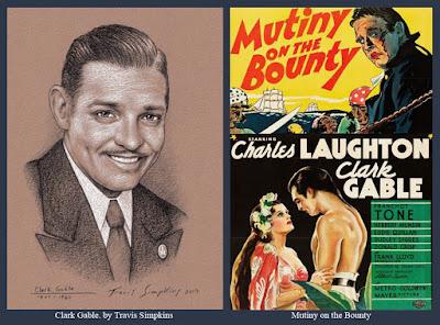 Clark Gable. Hollywood Actor. Freemason. Mutiny on the Bounty. by Travis Simpkins