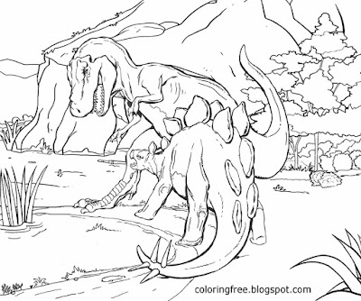 T Rex big dinosaur drawing Jurassic world Indominus rex coloring pages Prehistoric monsters graphic