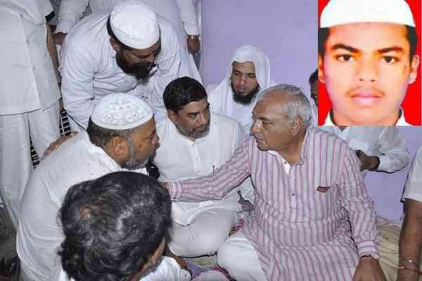 bhupinder-singh-hooda-reach-junaid-house-faridabad-for-politics