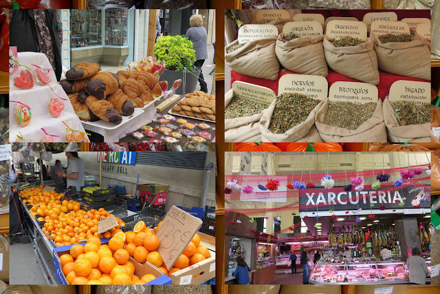 Food and crafts markets in Palafrugell in Costa Brava, Spain
