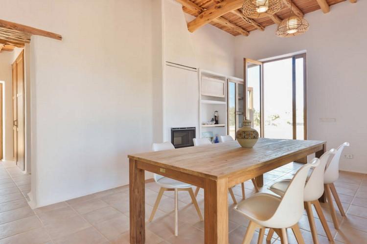 salón casa vacaciones Ibiza
