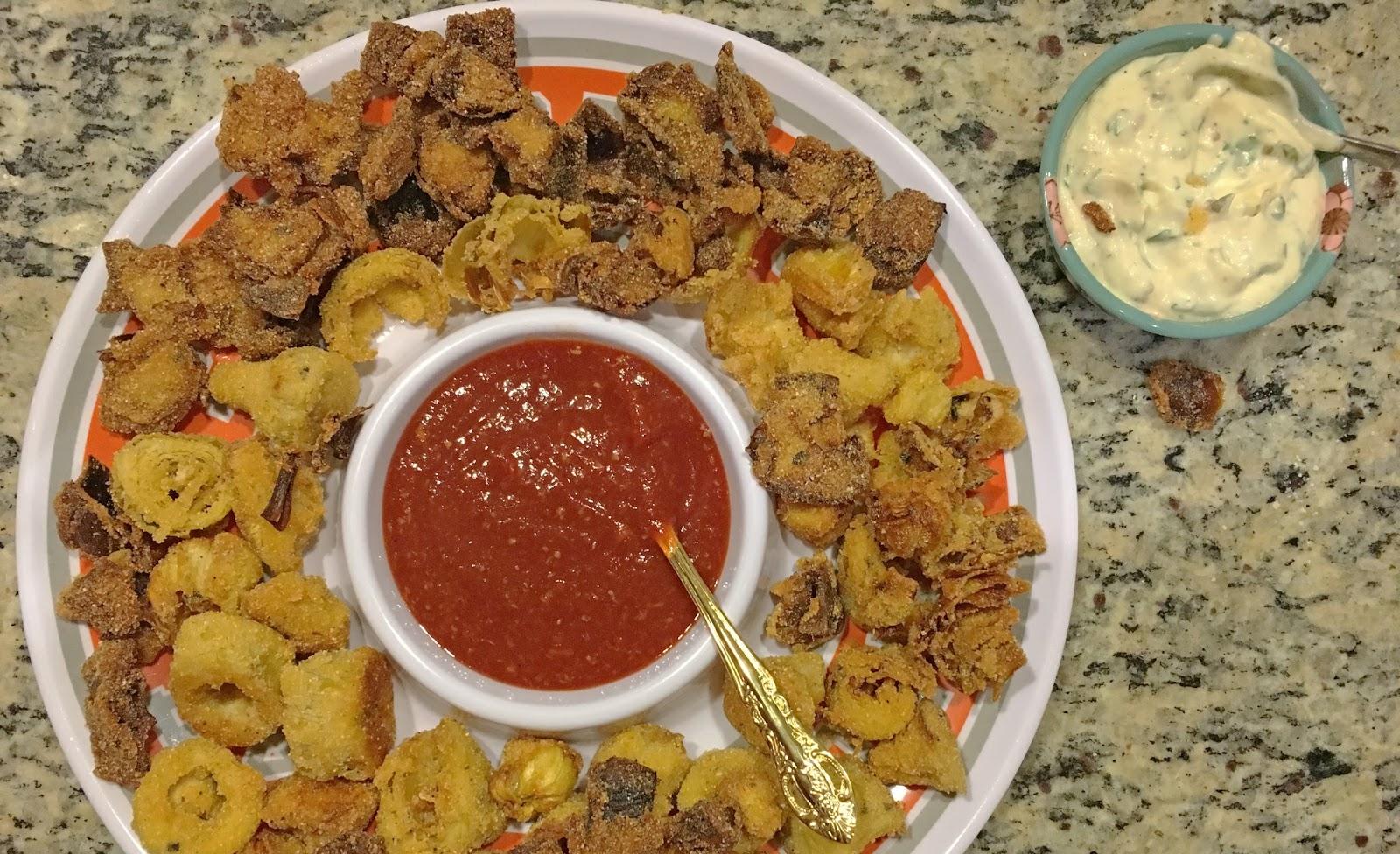 cooking vegan calamari in Fort Worth, Texas