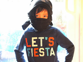 How to make a t-shirt ninja mask- free, no-sew, and ready to wear in under 1 minute!