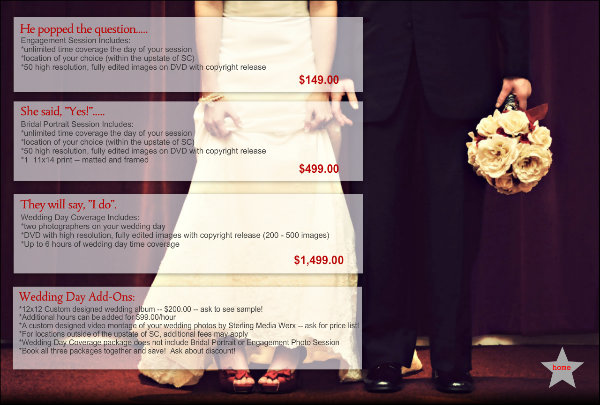 Photography Prices Wedding: Ciep Photography: Wedding Photography Packages