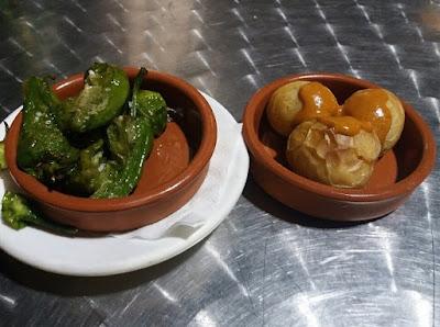 Photo of Typical Canarian Tapas: Pimientas de Padron and Papas Arrugadas