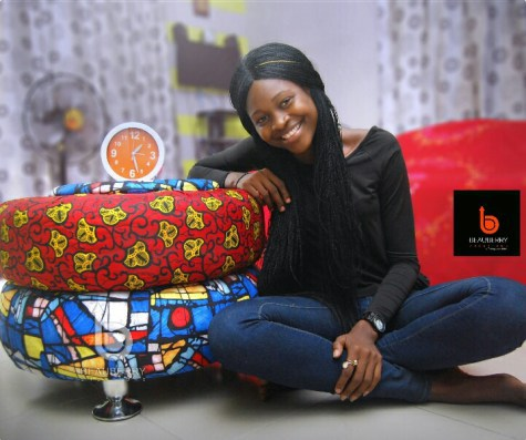 bettu4 tile - Nigerian Lady Creates Beautiful Brand New Furniture With Condemned Tyres Gotten From Dustbins (See Photos)