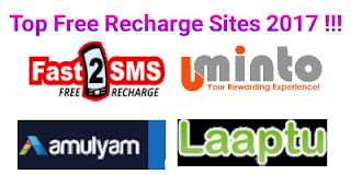 Free recharge sites list for earn talktime