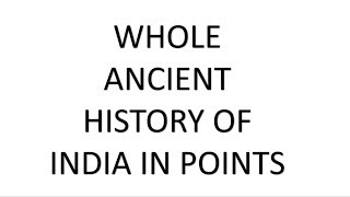ANCIENT INDIAN HISTORY HAND WRITTEN NOTE