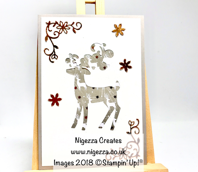 Dashing Deer Silhouette Christmas Card Nigezza Creates