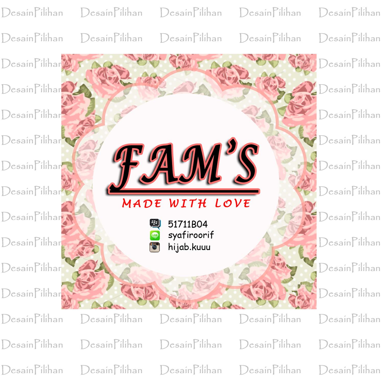 Desain Pilihan Desain Logo Bisnis Jualan Hijab Fam S Online Shop