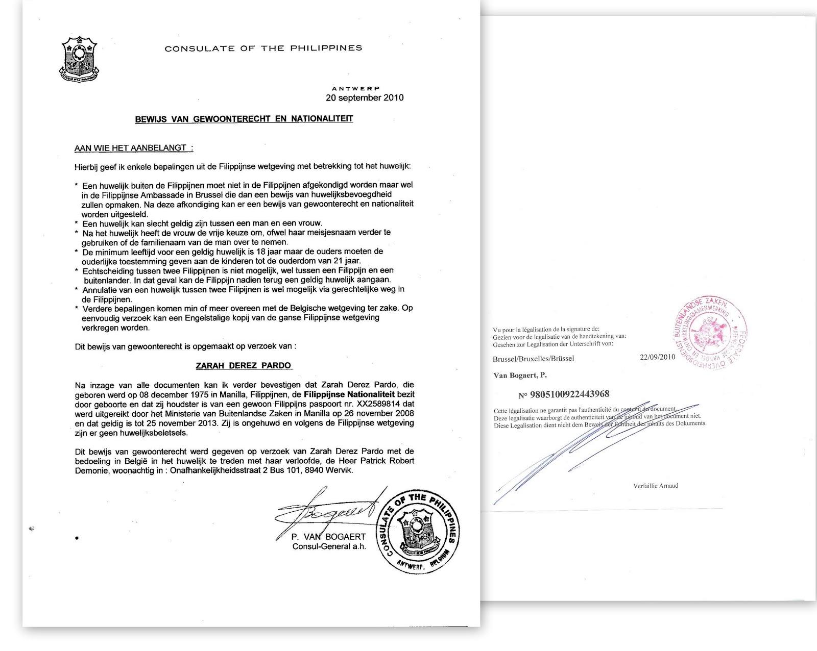 Invitation letter visa belgium for Consul example