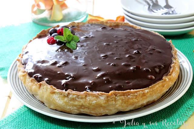 Tarta de almendra o chocolate. Julia y sus recetas